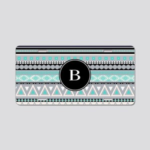 Borders Monogram Aluminum License Plate