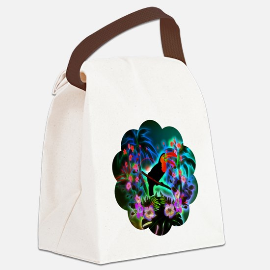 Tropical design Canvas Lunch Bag