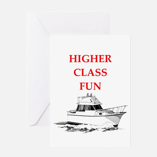 yacht Greeting Cards