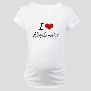 I Love Raspberries artistic desi Maternity T-Shirt