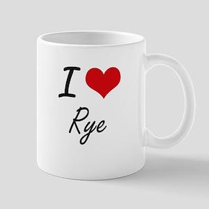 I Love Rye artistic design Mugs