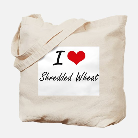 I Love Shredded Wheat artistic design Tote Bag