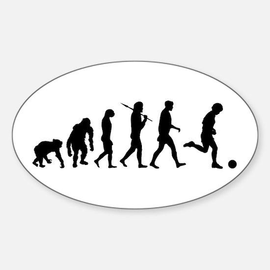 Evolution of Soccer Sticker (Oval)