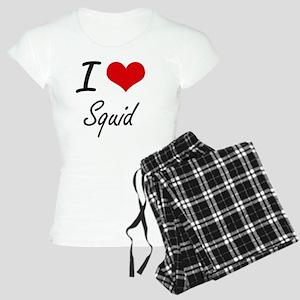I Love Squid artistic desig Women's Light Pajamas