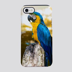 Beautiful Blue And Yellow Pa iPhone 8/7 Tough Case