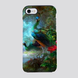 Beautiful Peacocks In Garden iPhone 8/7 Tough Case
