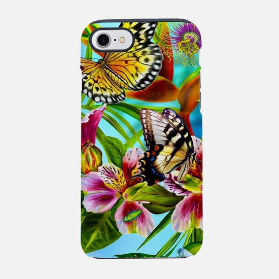 Beautiful Butterflies And Fl iPhone 8/7 Tough Case