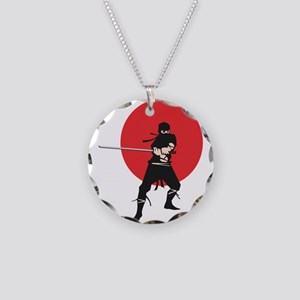 ninja Necklace Circle Charm