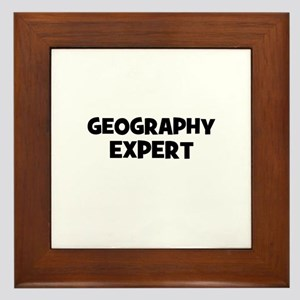 Geography Expert Framed Tile