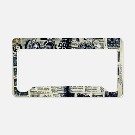 Tractor Dreams License Plate Holder
