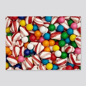 Peppermints and Gumballs 5'x7'Area Rug