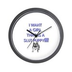 Slut Puppy Wall Clock!!
