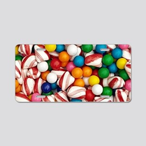 Peppermints and Gumballs Aluminum License Plate