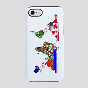 World Map With Flags iPhone 8/7 Tough Case