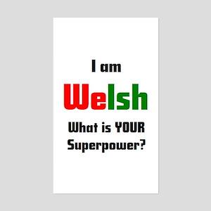 i am welsh Sticker (Rectangle)