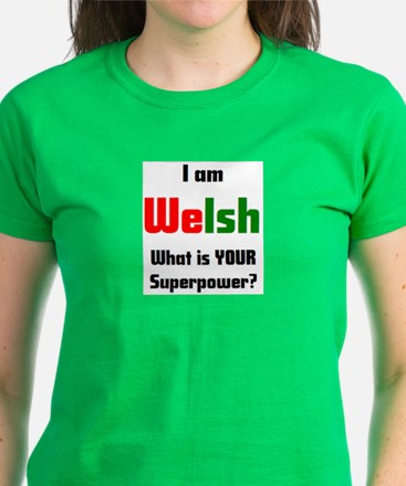 i am welsh Women's Dark T-Shirt