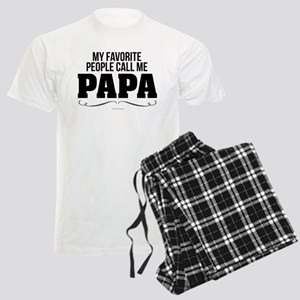Papa Favorite People Men's Light Pajamas
