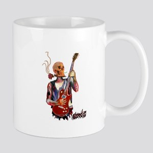 Shred It skull tattoo guitar player Mugs