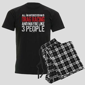 Interested in Drag Racing Men's Dark Pajamas