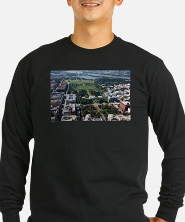 Lafayette Square Aerial Photog Long Sleeve T-Shirt