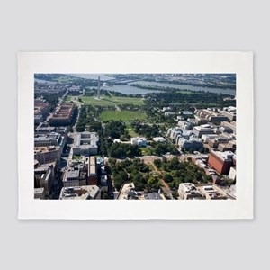 Lafayette Square Aerial Photograph 5'x7'Area Rug