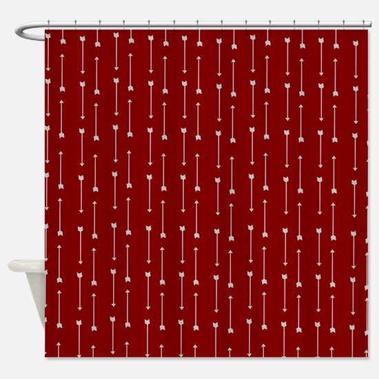 gray and red shower curtain. Gray Arrows on Red Shower Curtain And Curtains  CafePress