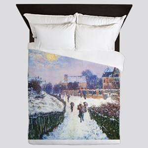 Claude Monet Boulevard in Argenteuil Queen Duvet