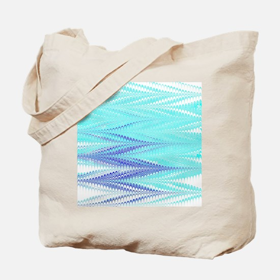 Pale Blue ZigZag Tote Bag