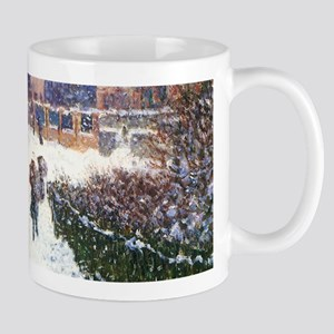 Claude Monet Boulevard in Argenteuil Mugs