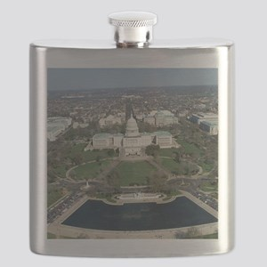 Capitol Hill Aerial Photograph 2 Flask