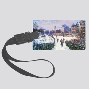Claude Monet Boulevard in Argent Large Luggage Tag