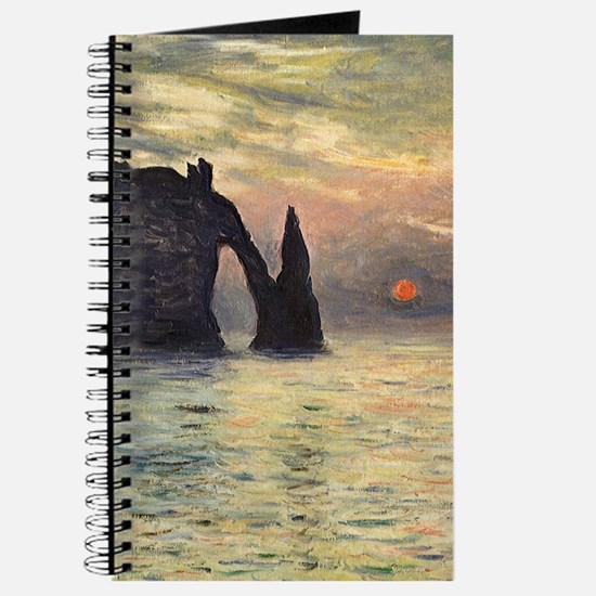 Claude Monet, Cliff Etretat Sunset Journal