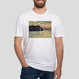 Claude Monet, Cliff Etretat Sunse T-Shirt