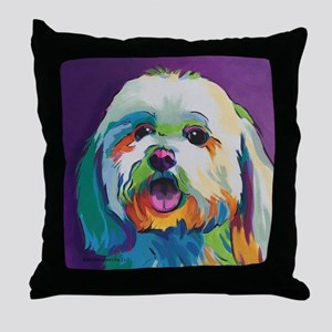 Dash the Pop Art Dog Throw Pillow