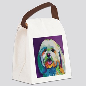 Dash the Pop Art Dog Canvas Lunch Bag