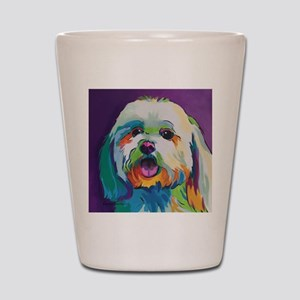 Dash the Pop Art Dog Shot Glass