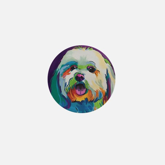 Dash the Pop Art Dog Mini Button