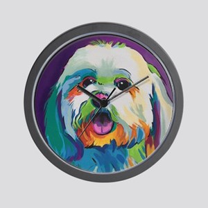 Dash the Pop Art Dog Wall Clock