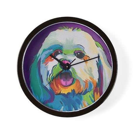 Dash The Pop Art Dog Wall Clock