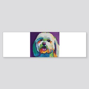Dash the Pop Art Dog Bumper Sticker