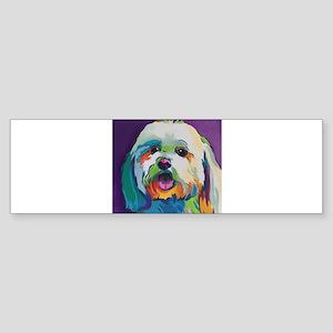 Dash the Pop Art Dog Bumper Sticker