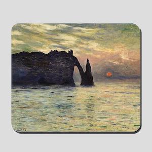 Claude Monet, Cliff Etretat Sunset Mousepad