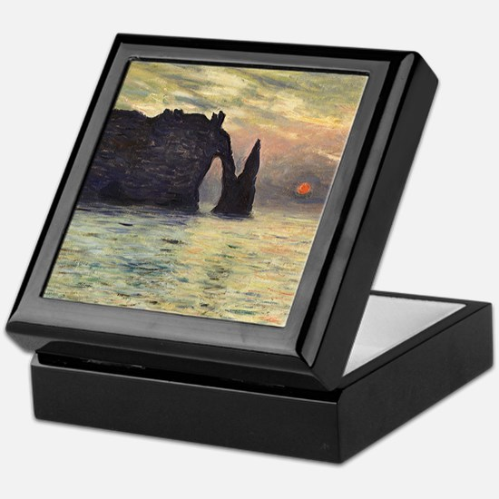 Claude Monet, Cliff Etretat Sunset Keepsake Box