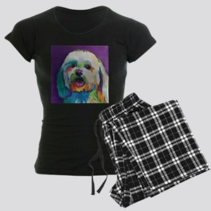 Dash the Pop Art Dog Women's Dark Pajamas