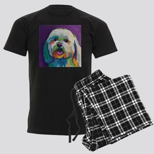Dash the Pop Art Dog Men's Dark Pajamas