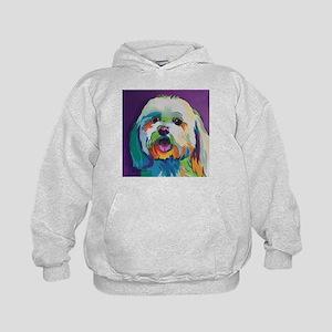 Dash the Pop Art Dog Kids Hoodie