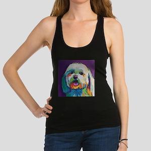 Dash the Pop Art Dog Racerback Tank Top