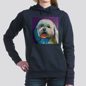 Dash the Pop Art Dog Women's Hooded Sweatshirt