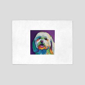 Dash the Pop Art Dog 5'x7'Area Rug