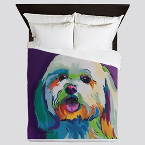 Dash the Pop Art Dog Queen Duvet